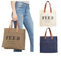 FEED(フィード) トートバッグ FEED キャンバストート☆Market Canvas Tote ☆FEEDプロジェクト