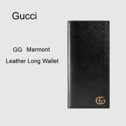 [Gucci] コイン入れ付き 長財布 GG Marmont Leather Long Wallet