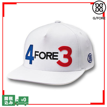 G FORE メンズ・アクセサリー 新作 日本未入荷 G/FORE 4FORE3 スナップバック キャップ 関送込