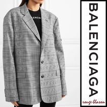 【国内発送】Balenciaga ブレザー Prince of Wales checked cady