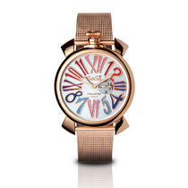 GaGa MILANO   SLIM 46MM 5081.01GOLD PLATED