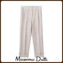 MassimoDutti♪SLIM FIT DARTED LINEN TROUSERS