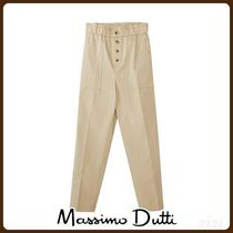 MassimoDutti♪LINEN SLIM FIT PAPERBAG TROUSERS