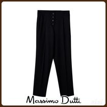 MassimoDutti♪JOGGING FIT WOOL FLANNEL TROUSERS