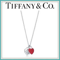 新作! ★Tiffany & Co★ Mini Double Heart Tag Pendant