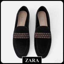 ★ZARA★ザラ  LEATHER LOAFERS WITH DETAIL