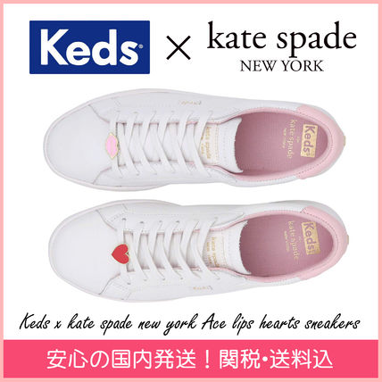 kate spade new york スニーカー 【国内発送】kedsコラボ ace lips hearts sneakers セール
