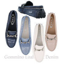 19SS TOD'S★Double T Gommino Driving Shoes/デニム 関税/送込