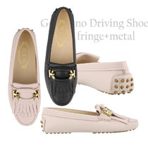 19SS TOD'S★Gommino Driving Shoes Fringe+Metal/2色 関税/送込