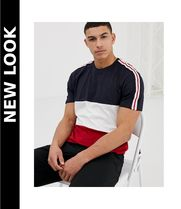 New Look(ニュールック) Tシャツ・カットソー 送料込★New Look★colour block Tシャツ sleeve taping/navy