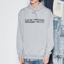 I AM NOT A HUMAN BEING(ヒューマンビーイング) パーカー・フーディ 韓国発 I AM NOT A HUMAN BEING Basic Logo Hoodie - GREY