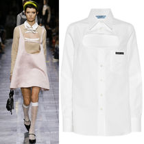 PR1923 LOOK12 COTTON POPLIN BLOUSE WITH CUT OUT DETAIL
