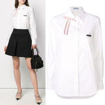 PR1926 BOW EMBELLISHED COTTON BLOUSE