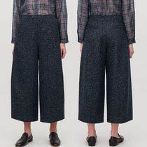 """COS"" LOOP-STITCHED ROUNDED WOOL CULOTTES NAVY"