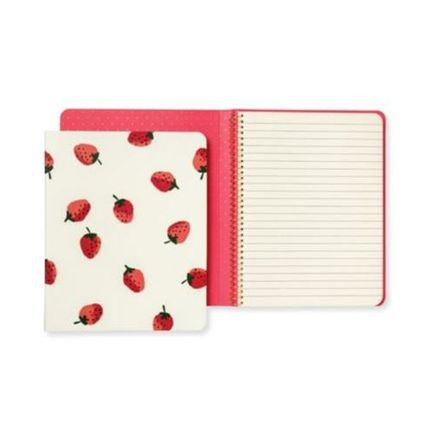 kate spade new york ノート 【Kate Spade】Strawberries Concealed Spiral Notebook イチゴ(2)
