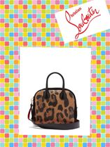 Christian Louboutin/Marie Jane leather and suede bag