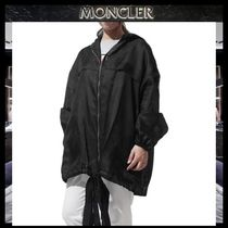 【MONCLER GAMME ROUGE】ビッグロゴフードジャケットBLACK/EMS