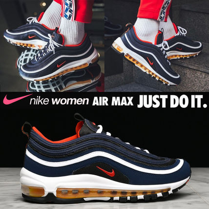 new arrival fb993 8d665 日本未入荷◆NIKE◆AIR MAX 97 GS◆Midnight Navy/Habanero Red