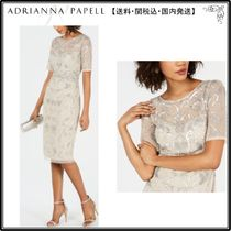 【海外限定】AdriannaPapellドレス☆Short-Sleeve Beaded Sheath