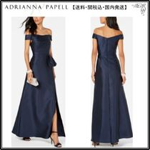 【海外限定】AdriannaPapellガウン☆Off-The-Shoulder Satin Gow