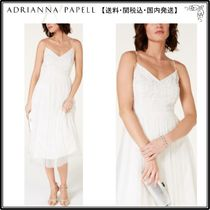 【海外限定】AdriannaPapellドレス☆Beaded Chiffon Midi Dress