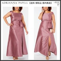 【海外限定】AdriannaPapellガウン☆Plus Size Off-The-Shoulder