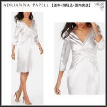 【海外限定】AdriannaPapellドレス☆Twist-Front Satin Sheath D