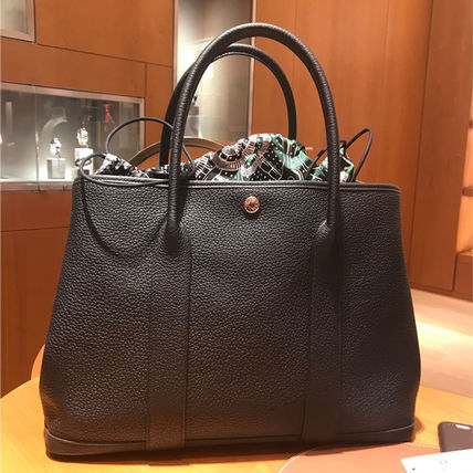 HERMES トートバッグ HERMES 超レア限定 ガーデンパーティーポーチ PM 36 Eperon d'Or(14)