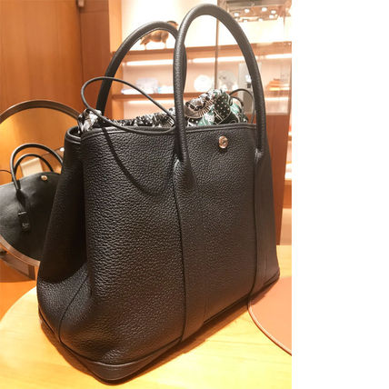 HERMES トートバッグ HERMES 超レア限定 ガーデンパーティーポーチ PM 36 Eperon d'Or(15)