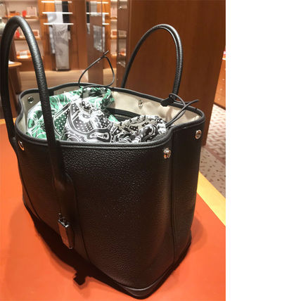 HERMES トートバッグ HERMES 超レア限定 ガーデンパーティーポーチ PM 36 Eperon d'Or(16)