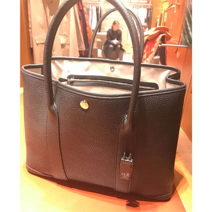 HERMES トートバッグ HERMES 超レア限定 ガーデンパーティーポーチ PM 36 Eperon d'Or(19)