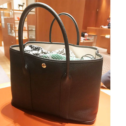 HERMES トートバッグ HERMES 超レア限定 ガーデンパーティーポーチ PM 36 Eperon d'Or(20)