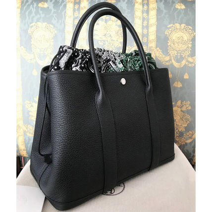 HERMES トートバッグ HERMES 超レア限定 ガーデンパーティーポーチ PM 36 Eperon d'Or