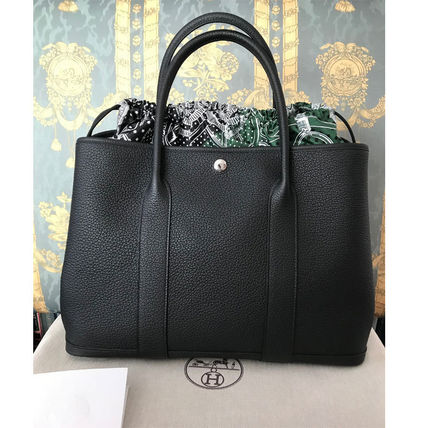HERMES トートバッグ HERMES 超レア限定 ガーデンパーティーポーチ PM 36 Eperon d'Or(2)
