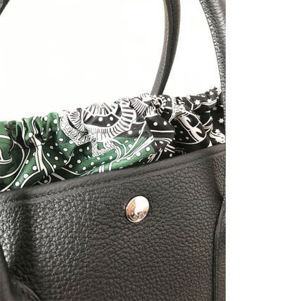 HERMES トートバッグ HERMES 超レア限定 ガーデンパーティーポーチ PM 36 Eperon d'Or(12)