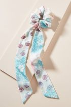 【Anthropologie】新作!可愛いRonnie Floral Scarfヘアゴム・Sky