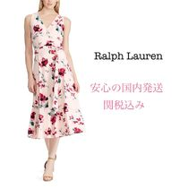 *国内発送* NEW 花柄ドレス LRL Floral Surplice Jersey Dress