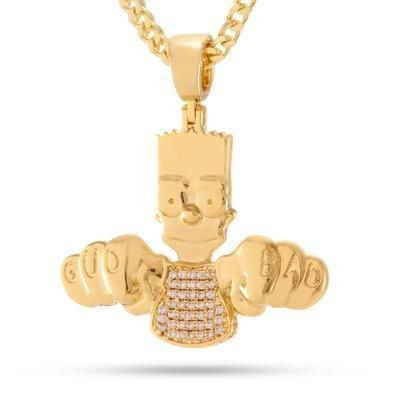 King Ice ネックレス・チョーカー King Ice Simpsons シンプソンズ 14Gold ネックレス
