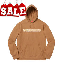 【SPRING SALE】SS19 SUPREME CHENILLE HOODED SWEATSHIRT/BROWN