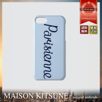 MAISON KITSUNE Parisienne iPhone8 ロゴ スマホケース
