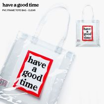 HAVE A GOOD TIME★韓国★PVC Frame Tote  CLEAR クリアーバッグ
