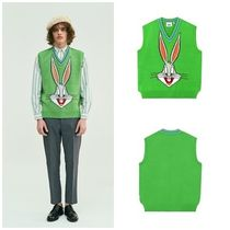 STEREO VINYLS COLLECTION(ステレオビニールズコレクション) ベスト・ジレ [SS19 STEREO X LOONEY TUNES] Bugs Bunny Knit Vest