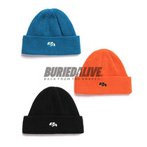 BURIED ALIVE(べリードアライブ) ニットキャップ・ビーニー 韓国 日本未入荷 正規品 BURIEDALIVE  BA NEW SYMBOL BEANIE 3色