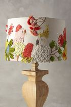 関税込★Anthropologie★大人気Enbroidered Coctatoo Lamp Shade