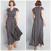 modcloth(モドクロス) ワンピース 国内送料無料♪Exchanging Introductions Dressマキシワンピース