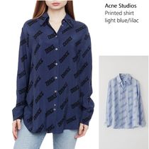 [Acne Studios] Print long-sleeved shirt 長袖プリントブラウス