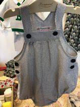 19SS【Bonpoint】Ever サロペット 6~12M (mixed ecru)