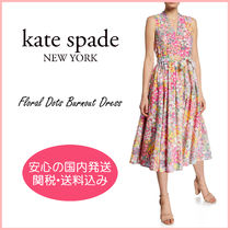 【国内発送】floral dots burnout dress セール