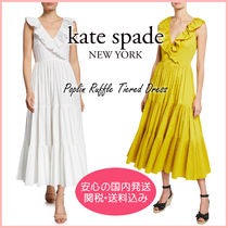 【国内発送】poplin ruffle tiered dress セール