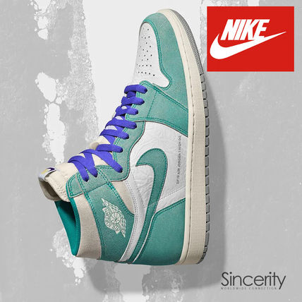 NIKE 555088-311 AIR JORDAN 1 RETRO HIGH TURBO GREEN / 9.0